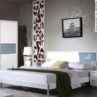 皇琛**批发成人色彩印花家具板式家具1.8米床成套卧室