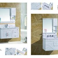 济南鑫玉PVC卫浴柜板和济南橡木卫浴柜   浴室柜洁具 橡木浴柜  PVC浴柜