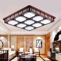 现代中式吸顶灯led卧室餐厅客厅灯阳台过道灯大气实木亚克力灯