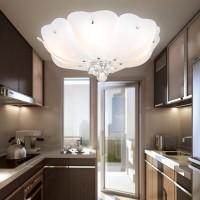LED/吸顶灯莲花形简约温馨客厅大厅卧室书房间亚克力灯圆形遥