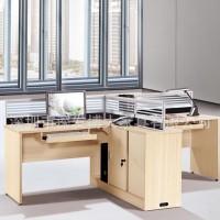 龙岗办公家具厂低价促销屏风组合办公桌、带副柜简约办公桌
