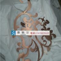 玫瑰金拉丝激光雕花屏风图案 不锈钢激光雕花价格