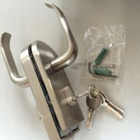 【】高隔断五金配件 玻璃隔断单开门锁 坚固耐用