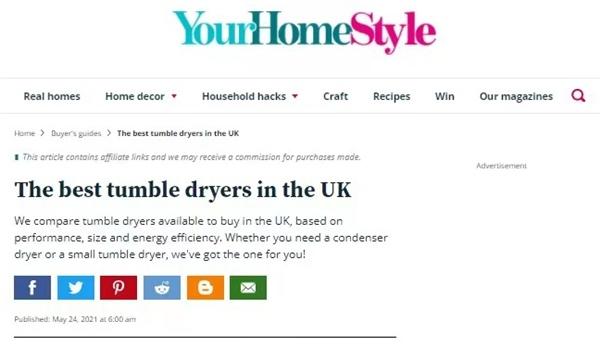 在英国六款最佳干衣机两款来自海尔智家